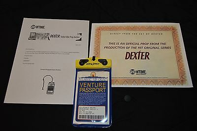Dexter Original Prop Screen Used Cruise Ship ID Badge Showtime Morgan TV
