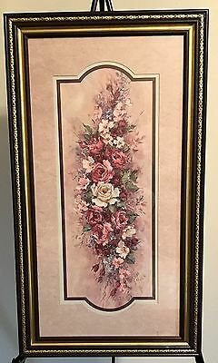 Homco Home Interiors Picture Artist Barbara Mock Multi Color Flowers VGC Ornate