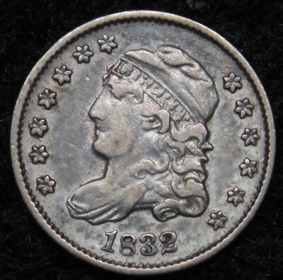 1832 Capped Bust Half Dime H10C 5 Cents - Nice Old Coin, Free Shipping  (4987)
