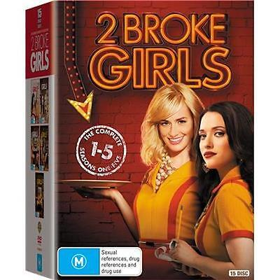 2 Broke Girls : Season 1 - 5 : NEW DVD Box Set