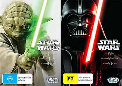 Star Wars Prequel & Trilogy 1 2 3 4 5 6 : New Dvd