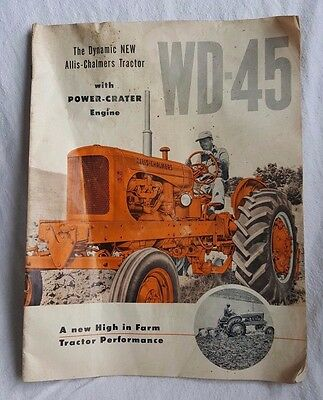 Allis Chalmers Tractor With Power Crater Engine Wd-45 Farm Tractor Advertising