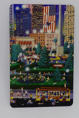 HT  Alexander's World Works of Alexander Chen Prepaid Phone Card NY City