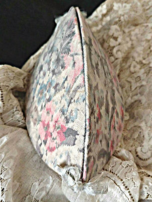 Victorian Shaker Style Sewing Pouch Cloth Covered Floral Print