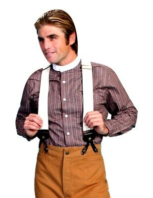 Scully Western Suspenders Mens Y-back Elastic One Size Natural 530500