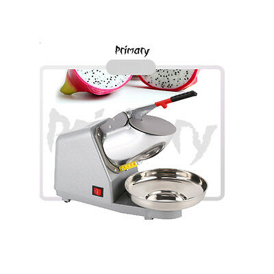 Summer Cool 143Lbs Ice Crusher Snow Cone Maker Electric Crusher Shaving 2 Knife