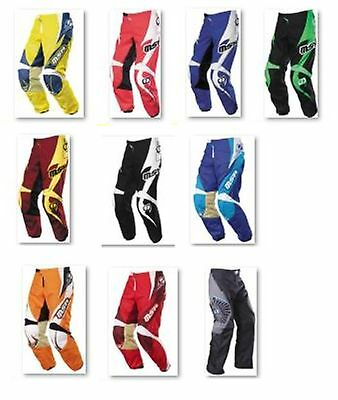 MSR motorbike bmx pants black yellow blue boys 16 18 20 22 24 26 4 6 8 10 12 14