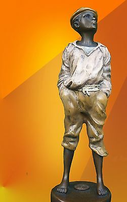 Superb Whistler Bronze Signed Bronze Statue French  Figure Hot Cast Sculpture