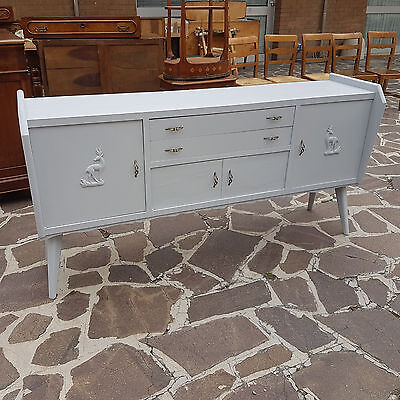 Beautiful Original Italian Art Deco Sideboard From 1950 Lacquered Gio' Ponti