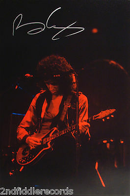QUEEN-Rare BRIAN MAY Autographed Original Unreleased Photograph-The Game Tour