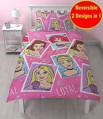 New Disney Princess Brave Single Duvet Quilt Cover Set Girls Kids Pink Bedroom