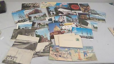 Lot Vintage Uncirculated B/W Colored  & 1 Cent Postcards