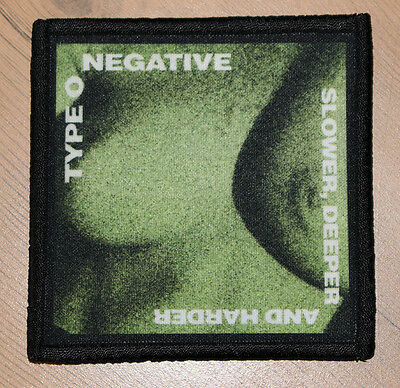 """TYPE O NEGATIVE """"SLOWER, DEEPER AND HARDER"""" silk screen PATCH"""