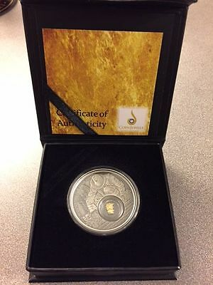 2016 Niue 1 oz .999 Silver Proof California Gold Rush Coin Low Mintage of 5000