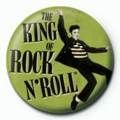 ELVIS PRESLEY king of rock & roll - BUTTON BADGE official merchandise