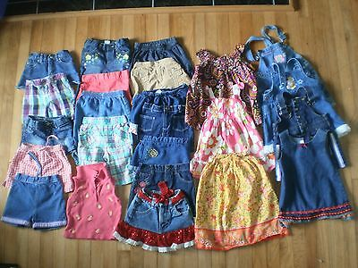 24 pc girls clothes lot~2T~shorts, skirts, dresses~Old Navy,Osh Kosh,Gap,more