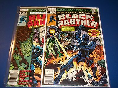 Black Panther #2,3 Bronze age lot of 2