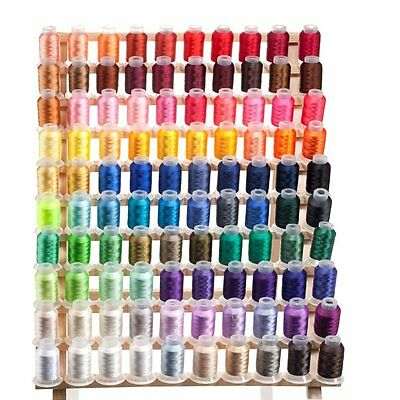 Embroidex Set of 100 Spools Embroidery Machine Thread Polyester