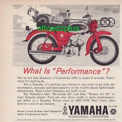 1964 Yamaha 55 - Riverside 55 - What is performance ad?