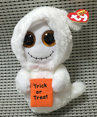 Halloween Ghost TY BEANIE BOOS Mist Stuffed With all tag 6 inch tall