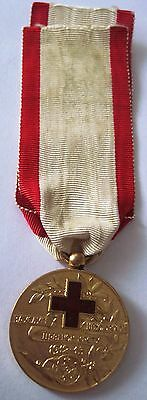Montenegro RARE Gold Red Cross Medal 1913 y. !order ,Serbia