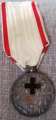 Montenegro RARE Silver Red Cross Medal 1913 y. !order ,Serbia