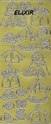 Starform Stickers Outline Bebe Naissance Layette 1927 Dore/or Autocollants Baby