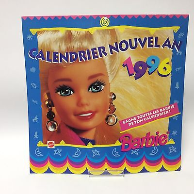 Barbie Doll Collectables - 1996 Calendar Jan - August Calendrier Nouvelan French