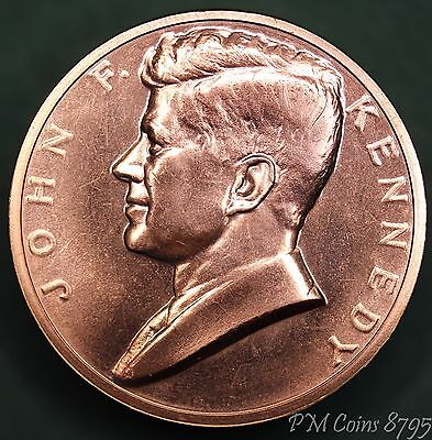 1961 President Kennedy United States US Inauguration medal copper *[8795]