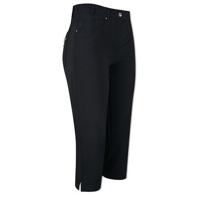 Glenmuir Soft-Stretch Capris with Flattering Fit in Navy