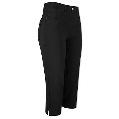 Glenmuir Soft-Stretch Capris with Flattering Fit in Black