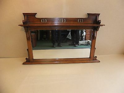 Antique Oak Framed Mirror