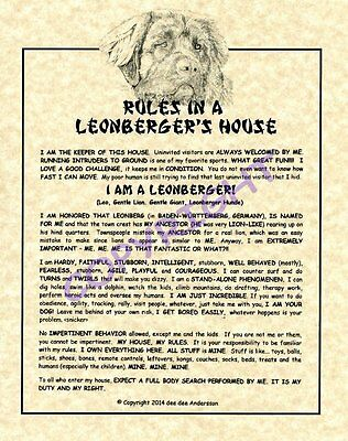 Rules In A Leonberger's House