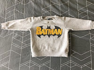 Next Boys Batman Grey Jumper 12-18 Months