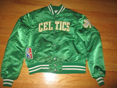 Vintage Starter BOSTON CELTICS Nylon Button-Down (Youth SM) Jacket GREEN