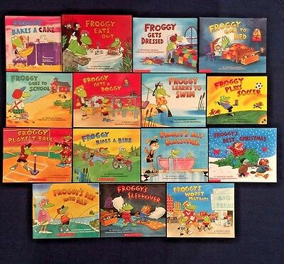 Lot of 15 Children's Picture Books by Jonathan London: Froggy Series