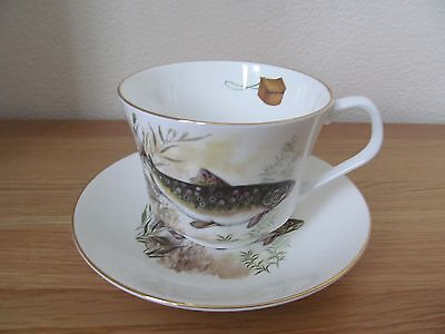 Elizabethan Bone China Large Cup and Saucer With Fish Pattern
