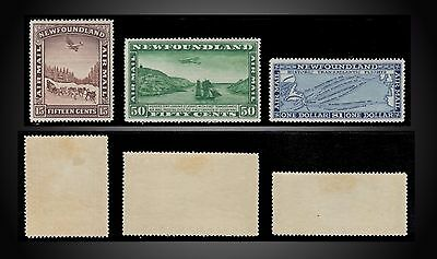1931 Newfoundland Air Mail Complete Issue Mint Little Hinged No Remained Paper