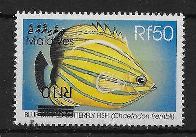 MALDIVE ISLANDS SG3460bb 2001 10r ON 50r DEFINITIVE  INV SURCHARGE MNH