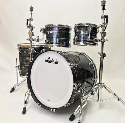 Ludwig Classic Maple 4pc MOD Shell Pack – Vintage Black Oyster