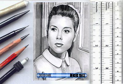 Avengers Emma Peel Diana Rigg Unstoppable Cards AP SketchCard pencil art Wu Wei