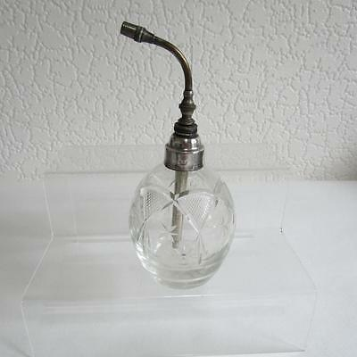 Antique  Sterling Silver & Blown Glass Perfume Bottle