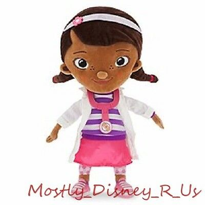 """New Disney Store Doc Mcstuffins Stuffed Plush Toy Doll 12 1/2"""" NWT RARE Sold OUT"""