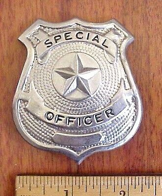 Special Officer Police Security Guard Silver Tone Replica Badge Taiwan