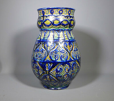 Rare Arts & Crafts Della Robbia Birkenhead Art Pottery Large Vase Iznik Design