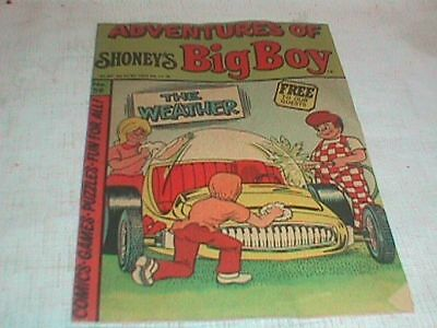 BIG BOY COMIC BOOK Shoney's ADVENTURES of No 56