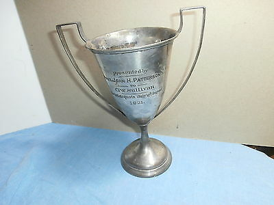 Sterling Silver Award Trophy 1921 Pres John H Patterson National Cash Register ?