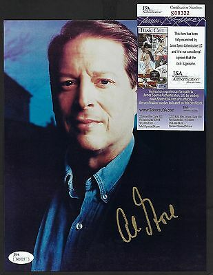 Al Gore Signed 8x10 photograph JSA Authenticated Former US VP