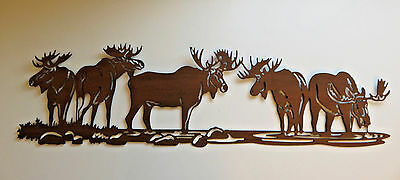 """30"""" x 18"""" MOOSE METAL WALL DECOR  COUNTRY COTTAGE CABIN DECOR WALL ART"""
