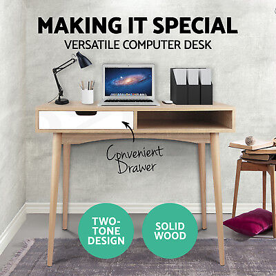 Office Computer Desk 2 Drawers Table Storage Cabinet Student Study Organiser